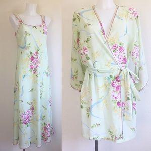 Vintage Oscar De La Renta Nightgown and Robe S